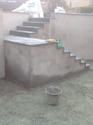 garden stone steps construction